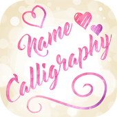 Name Art on Photo Love Calligraphy