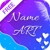 Name art Focus Filter Name Card Maker